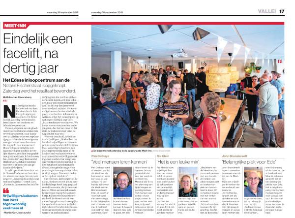 afbeelding van het artikel in de Gelderlander